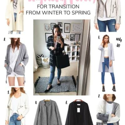 THE BEST LAYERING PIECES FOR TRANSITION FROM WINTER TO SPRING