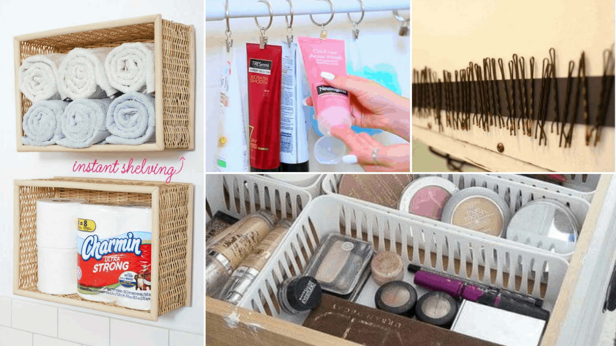 Dollar Store Organizational Hacks for a Small Bathroom