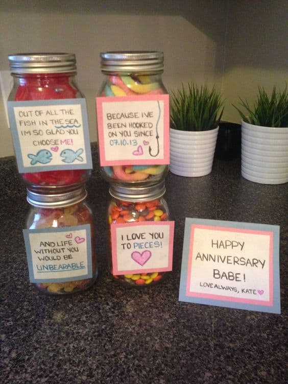 19 diy gifts for long distance boyfriend that show you care by mason jar treats candy long distance relationship gift solutioingenieria Gallery
