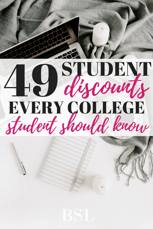 student discounts every college student should know