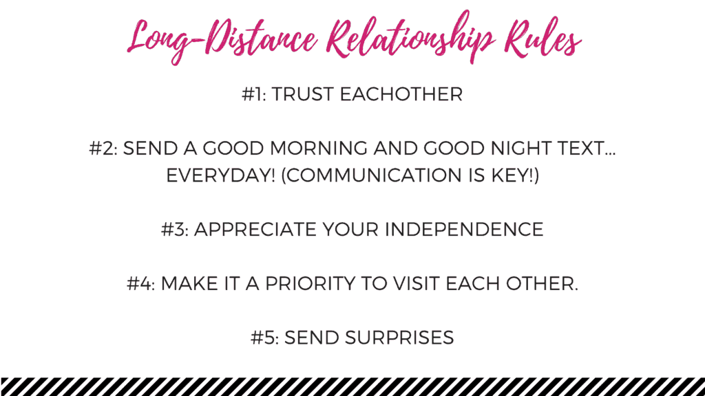 long-distance relationship rules