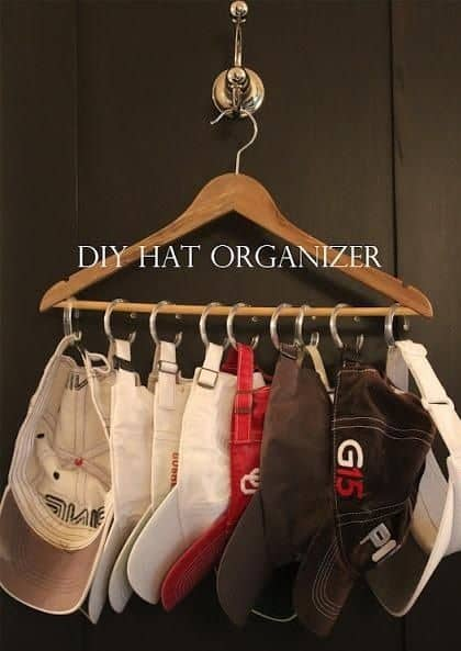 hat organizer for college