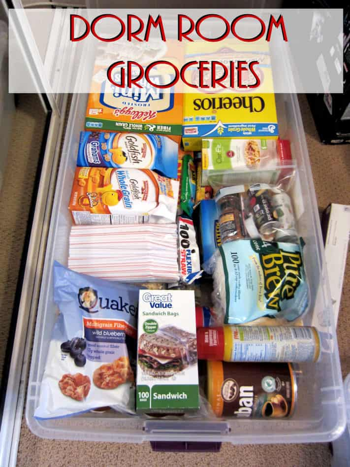 food organization in dorm room