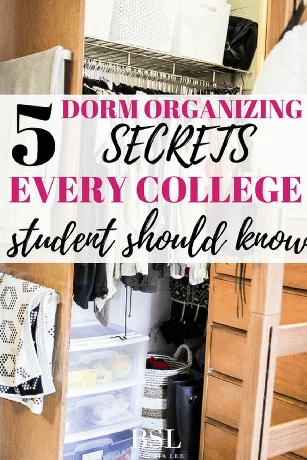 dorm organizing secrets every college student should know