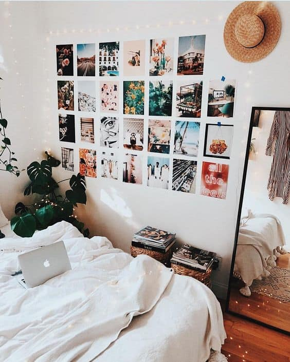8 cute gallery wall ideas to copy for your college dorm room by