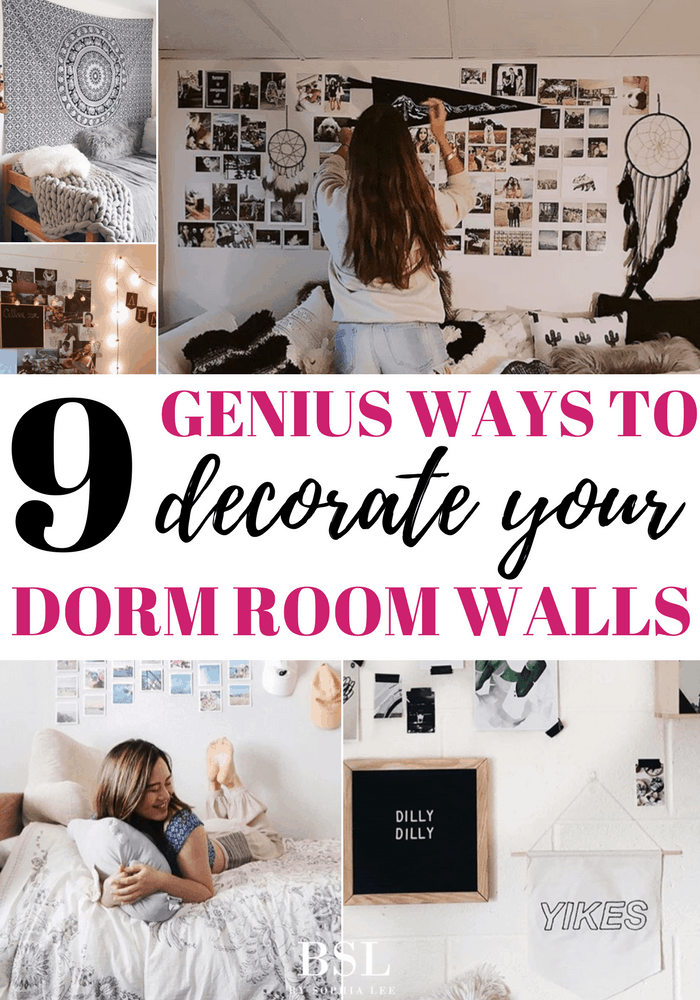 Dorm Room Wall Decor: 9 Genius Ways To Decorate Your Dorm Room Walls