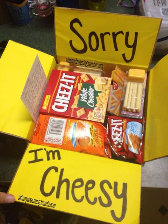 sorry im cheesy box for long distance relationship