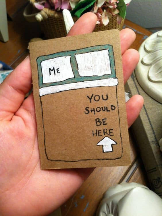 long distance relationship card idea
