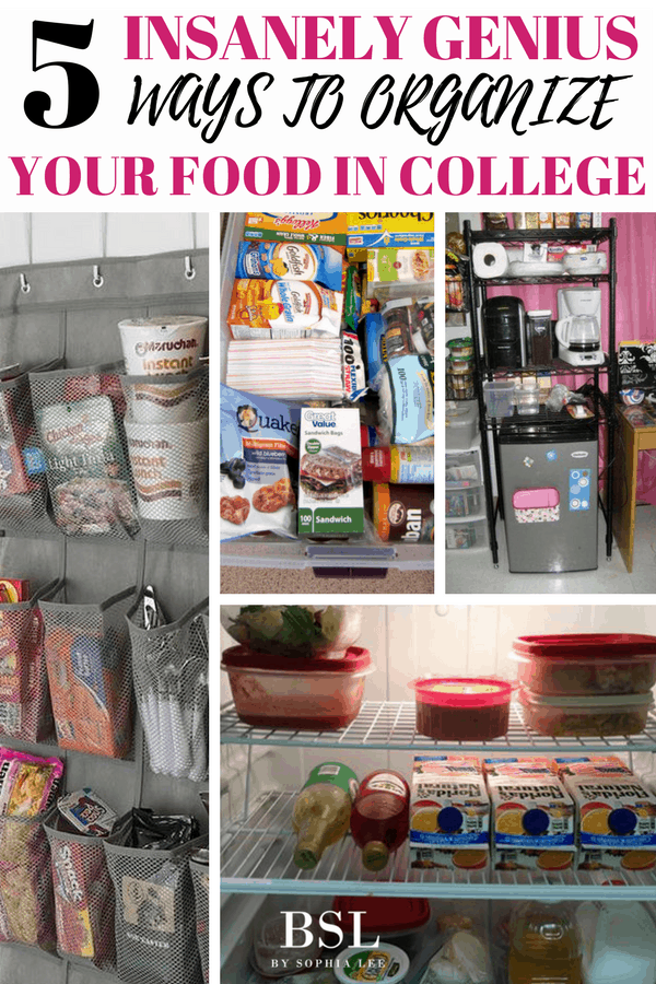 Dorm Room Storage: 5 Insanely Genius Ways To Organize Your Food In College