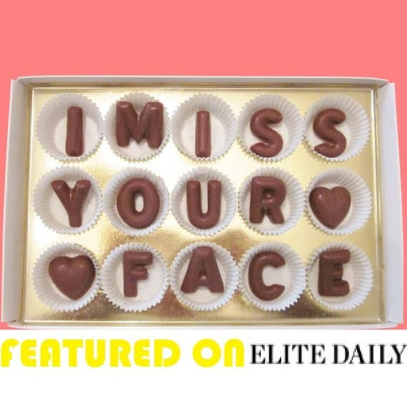 i miss your face chocolate