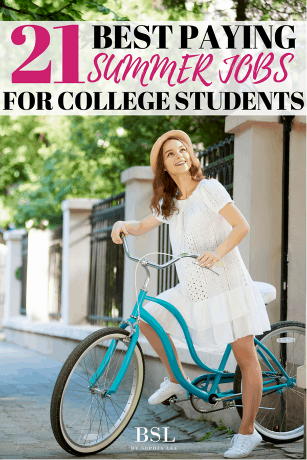 best paying summer jobs for college students