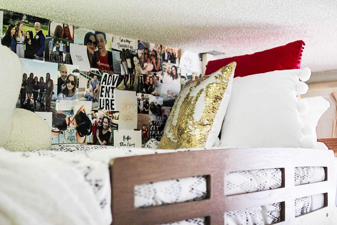 decor ideas for over dorm room bed