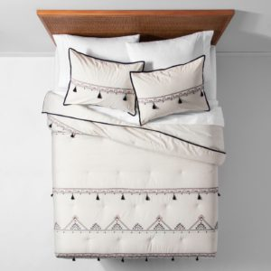 boho tassel dorm bedding