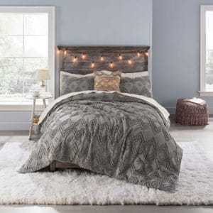 dark grey dorm bedding