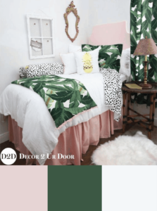 girl dorm room color scheme