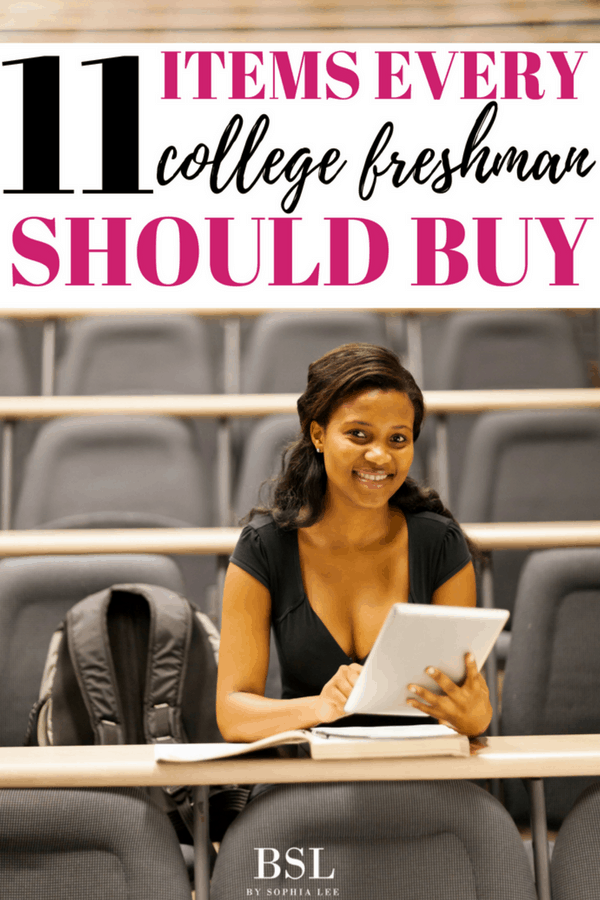 items every college freshman should buy