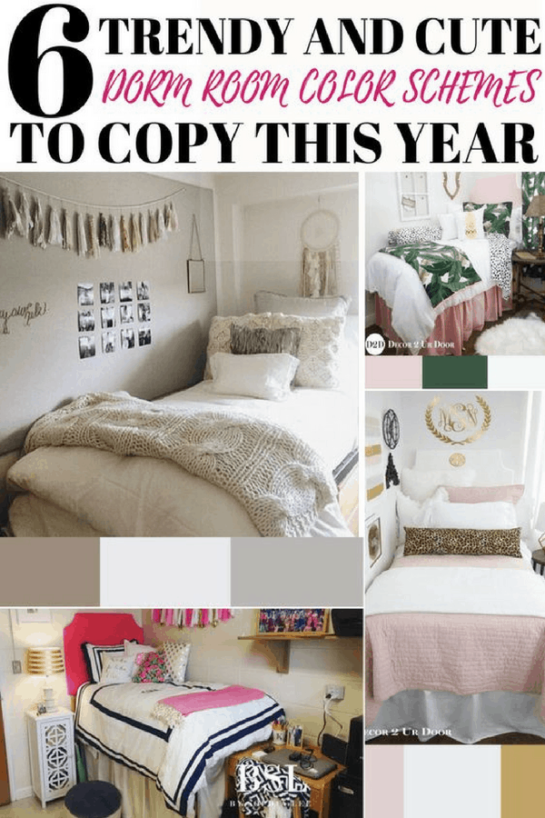 trendy dorm room color schemes