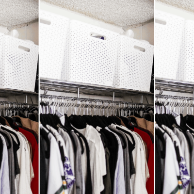 Dorm Room Closet Organization | 5 Genius Ways To Organize Your Closet in College