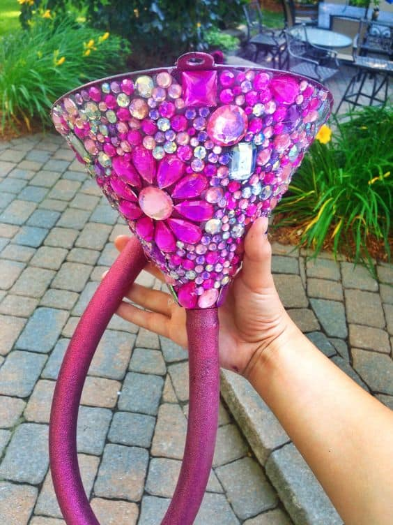 bedazzled beer funnel for 21st birthday