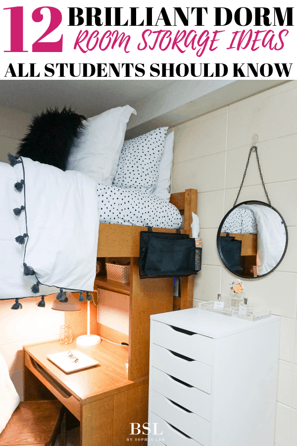 Dorm Room Storage Ideas 12 Brilliant