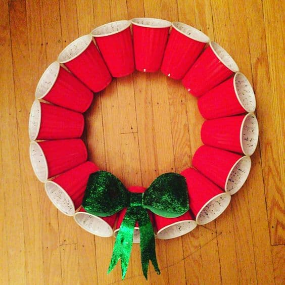 red solo cup christmas wreath diy
