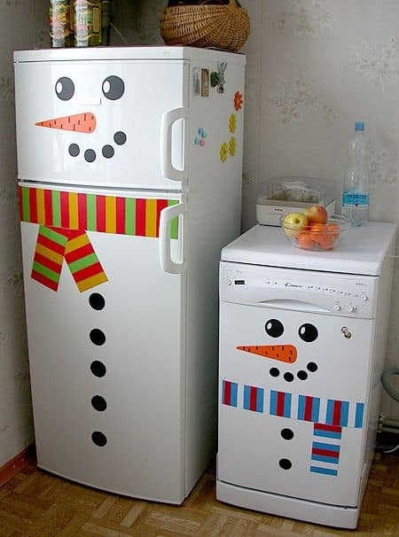 easy christmas decor dorm fridge decorating