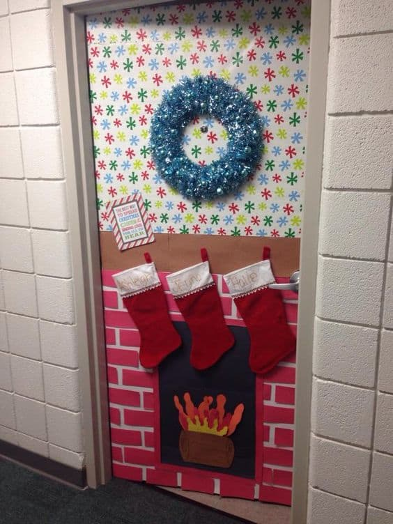 christmas dorm door decor