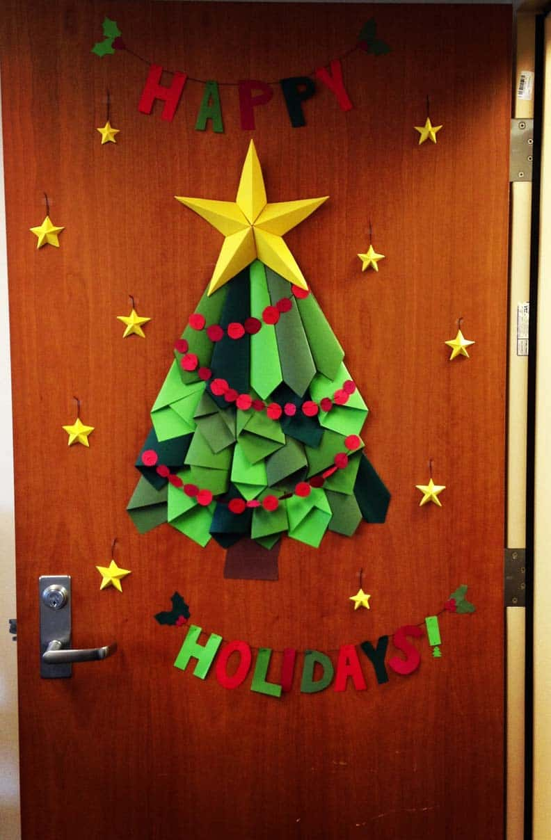 christmas dorm door decorating ideas