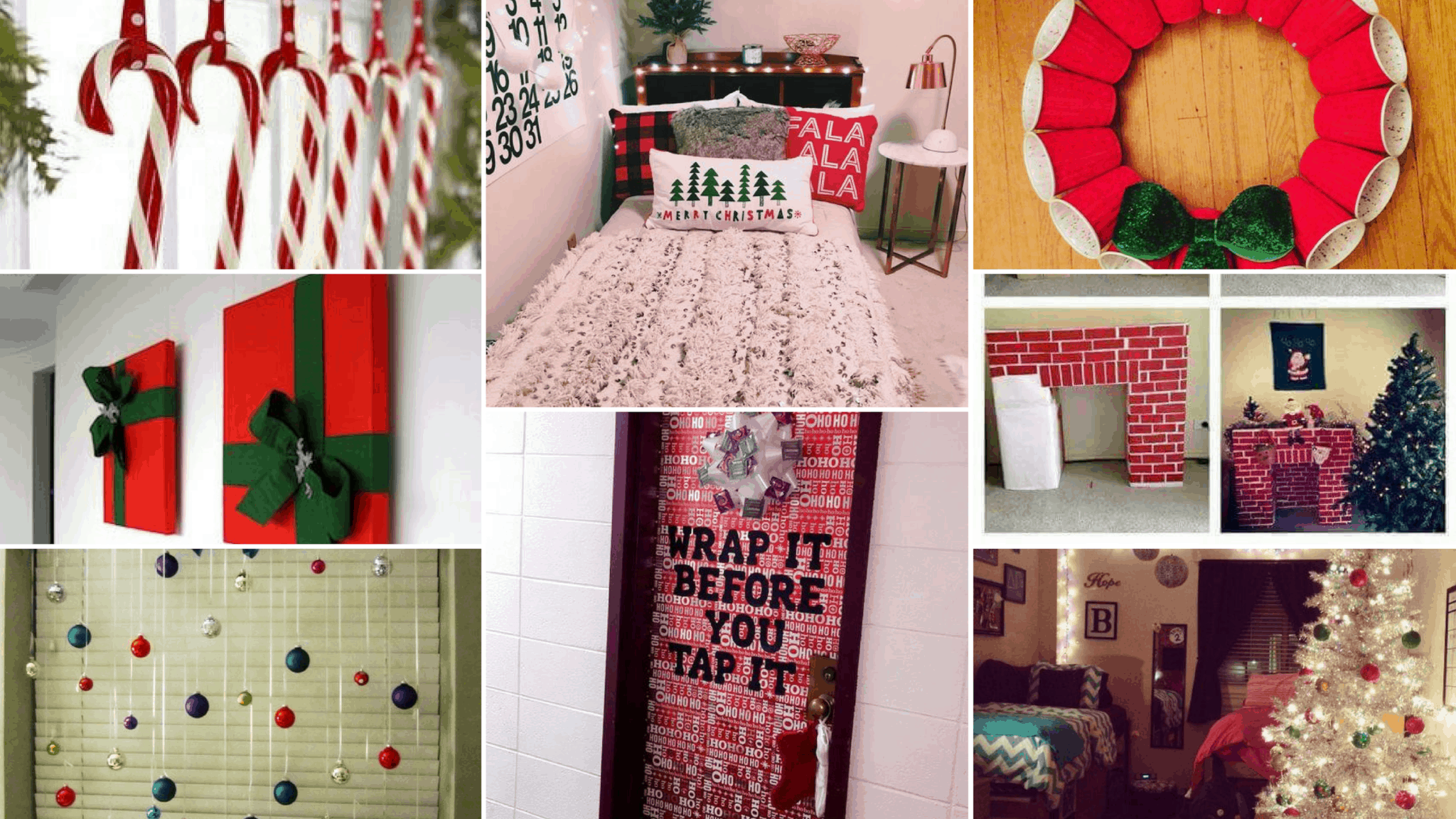 15 extremely cute dorm christmas decorations to copy this year by - Christmas Dorm Decorations