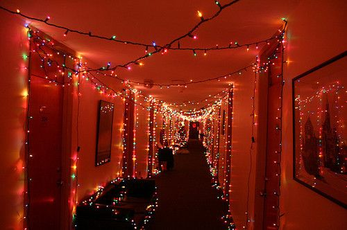 decorate hallway with lights dorm christmas lights