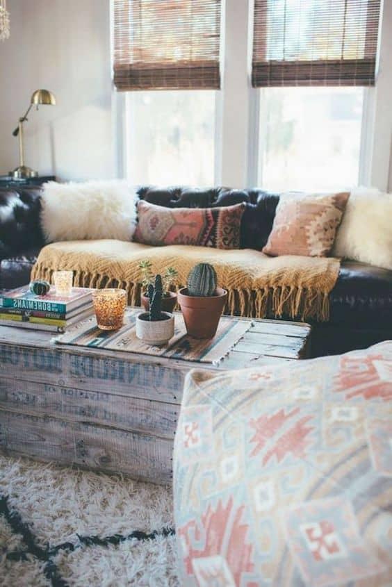 college apartment living room