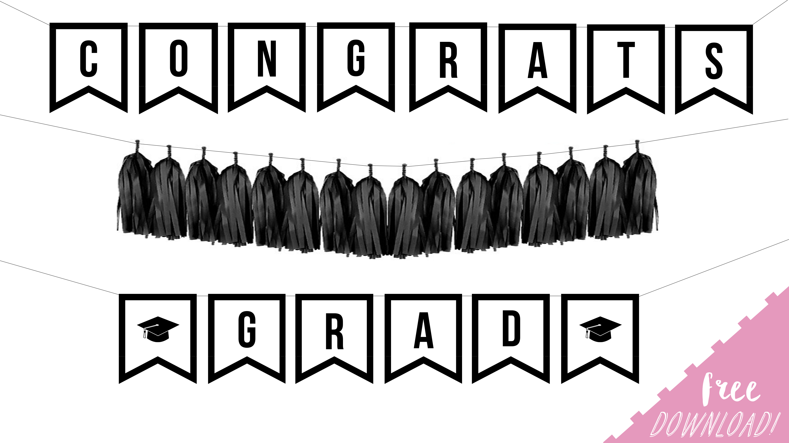 photo about Congratulations Banner Free Printable identified as Absolutely free Printable Commencement Banner - By way of Sophia Lee