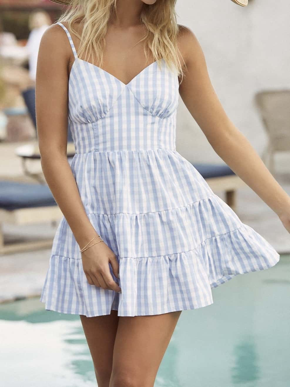 blue sorority rush outfit cheap