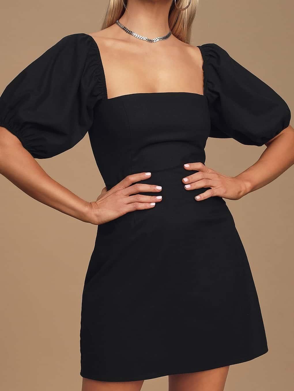 black rush dress