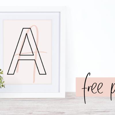 Best FREE Printable Monogram Wallpaper