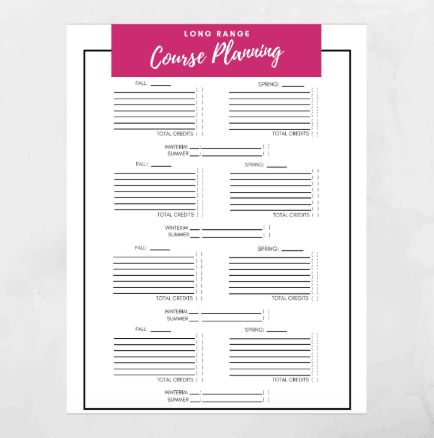 college printables templates