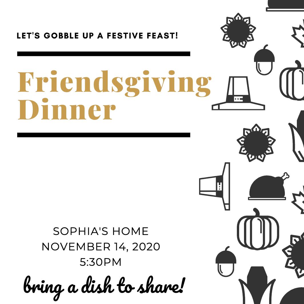 friendsgiving invitation ideas