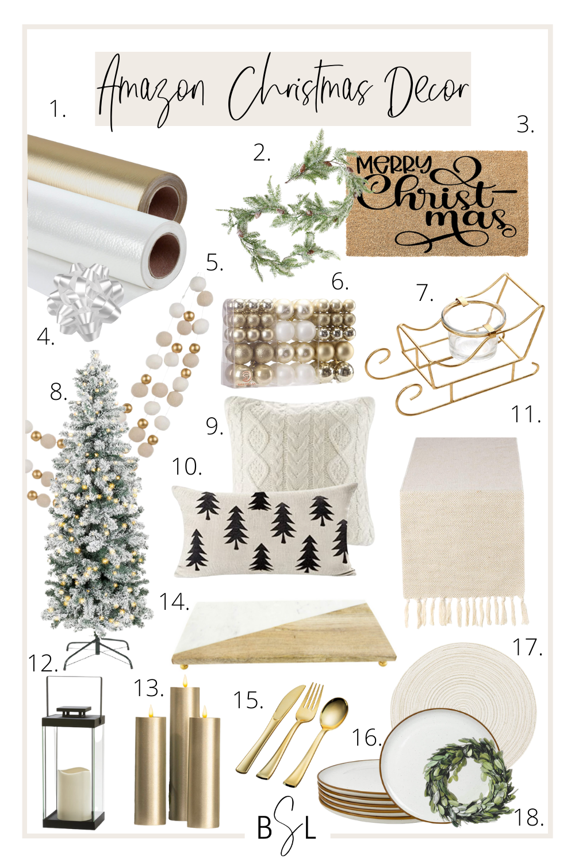 amazon christmas decor collage