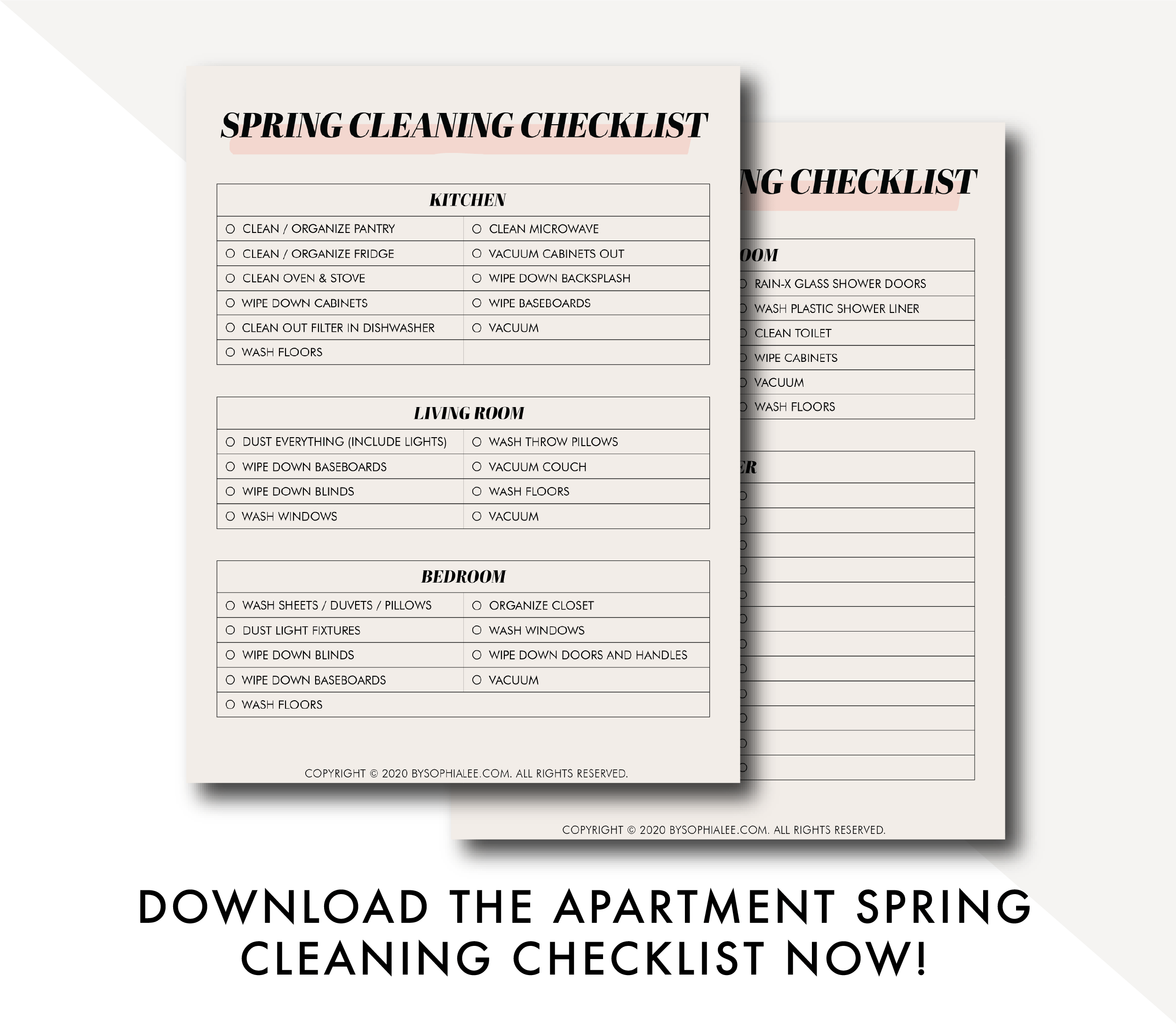 apartment spring cleaning checklist