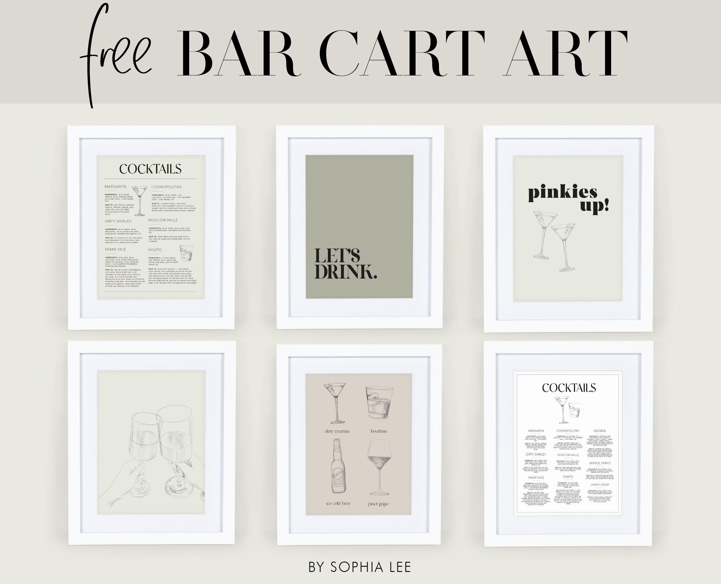 bar cart art