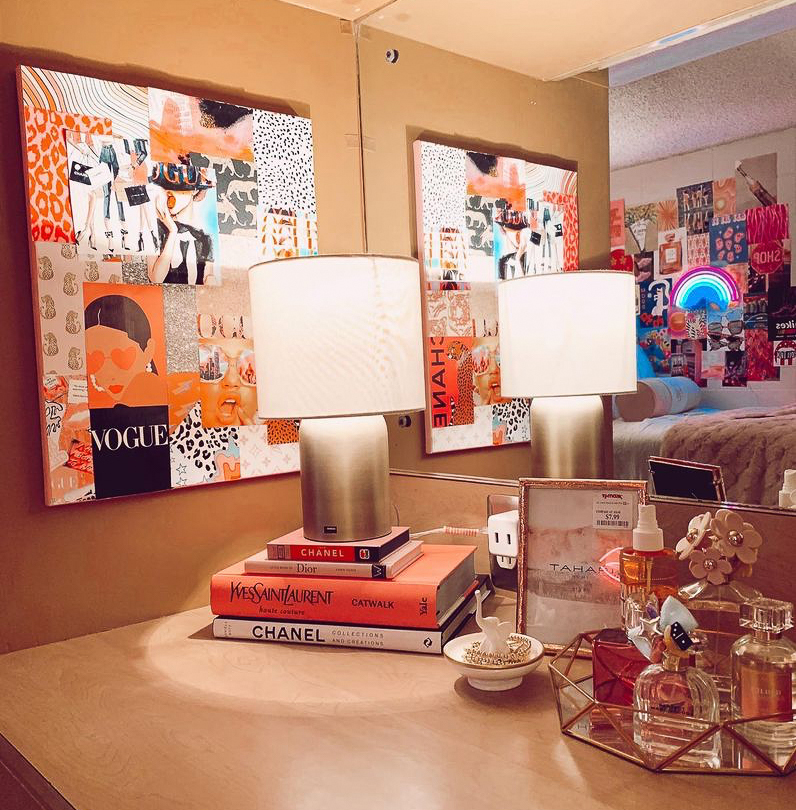 dorm room table decor
