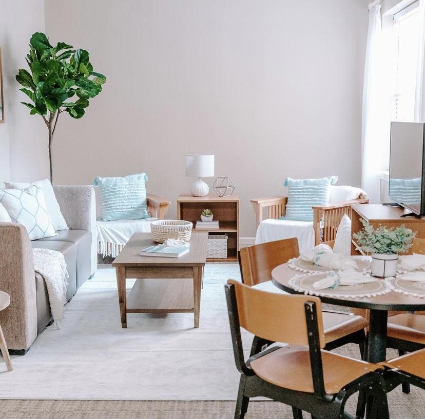 suite style dorm living room decor