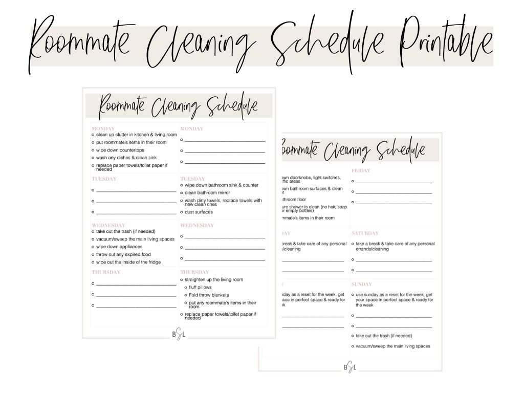 chore chart for adults