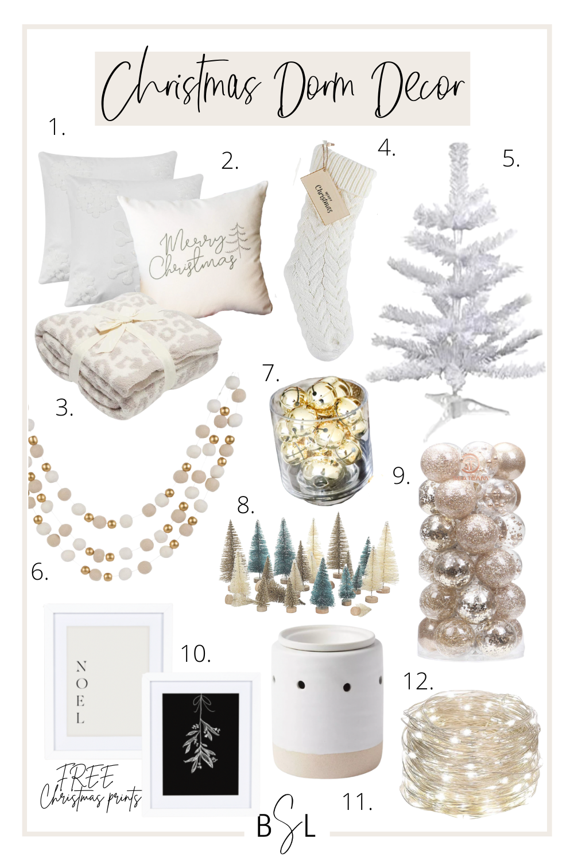 christmas dorm decor collage