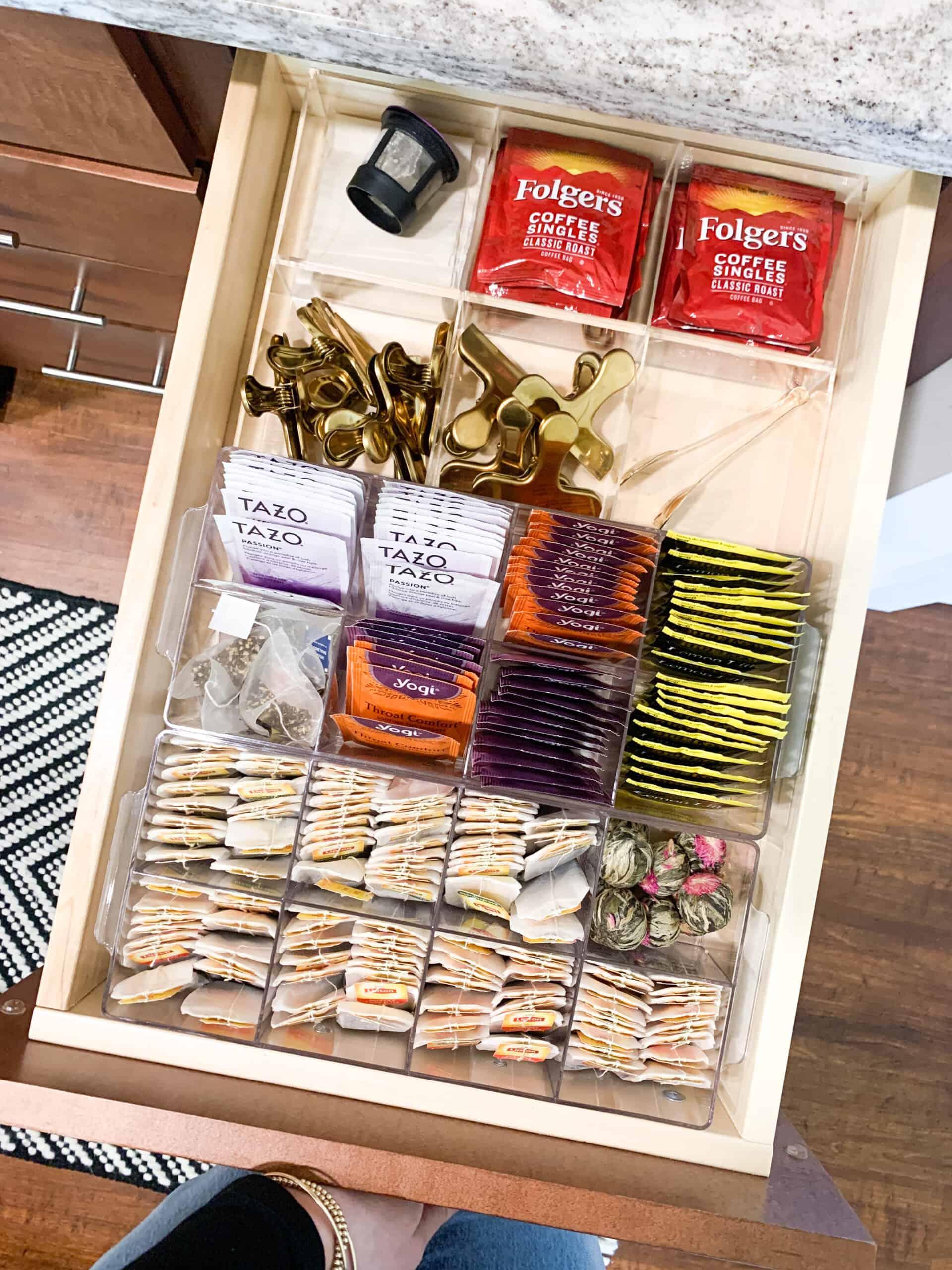 coffee drawer organizer
