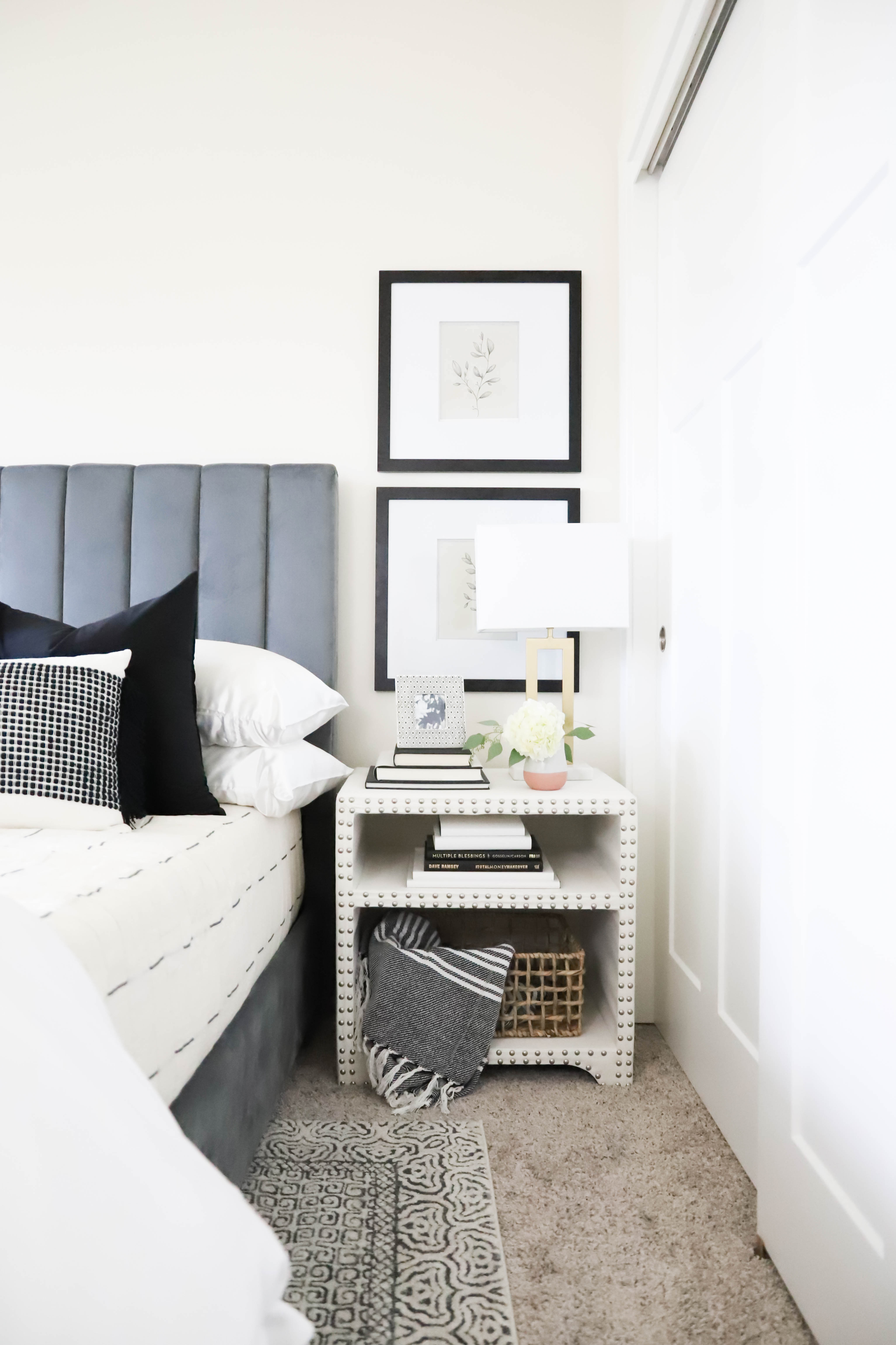 coffee table books styling bedroom