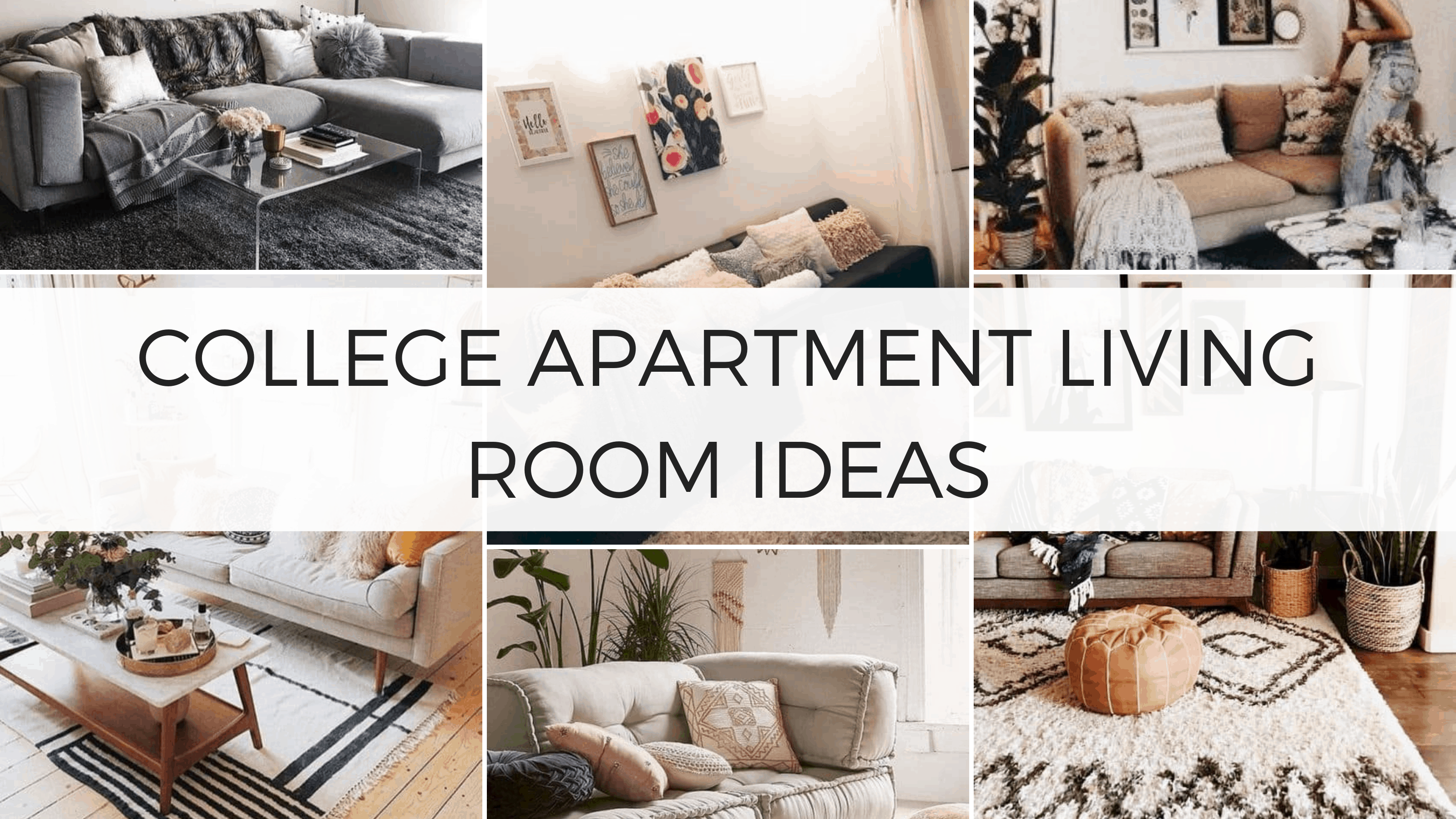 26 Insanely Cute College Apartment Living Room Ideas To Copy - By ...
