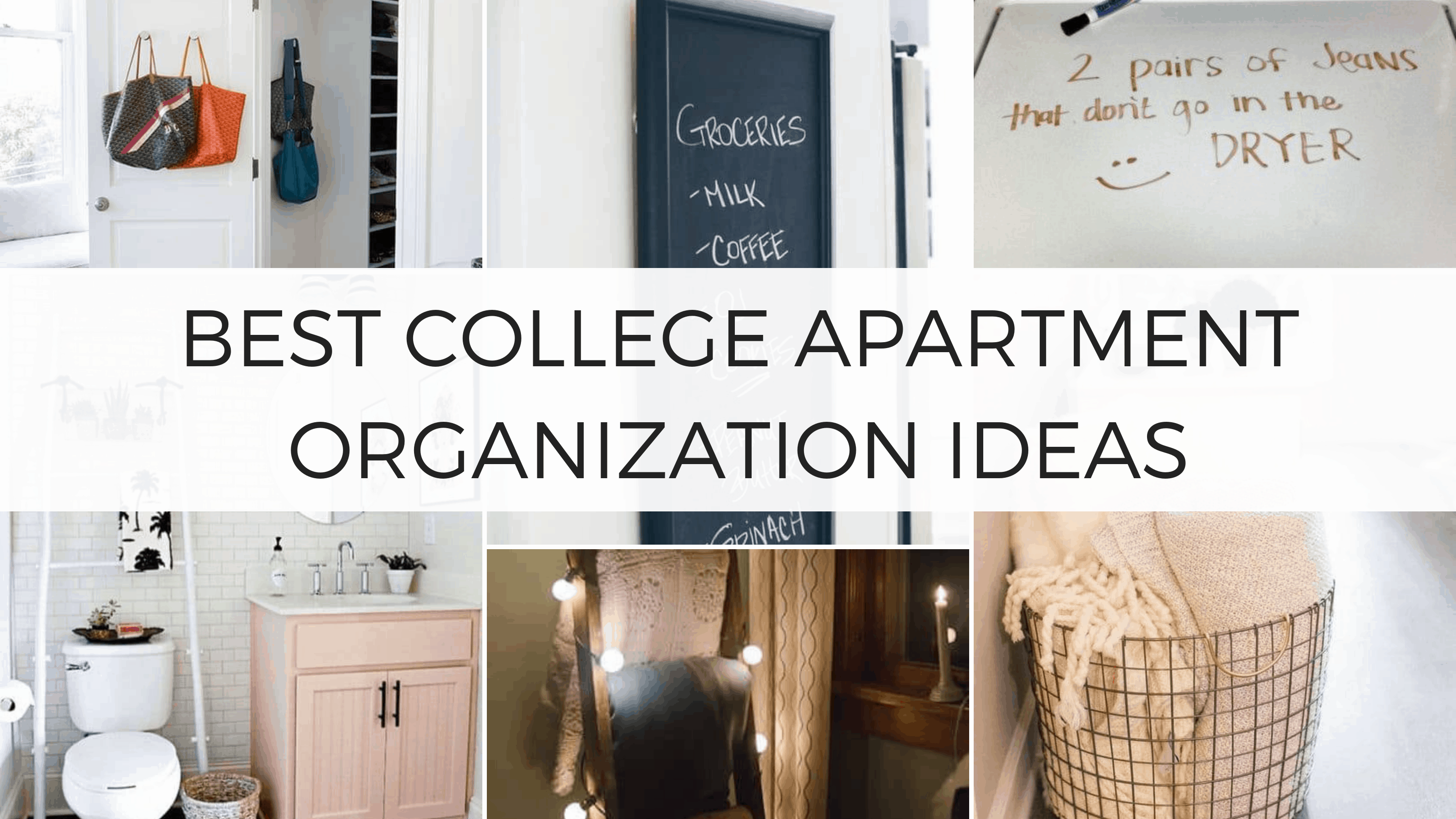 college apartment organization