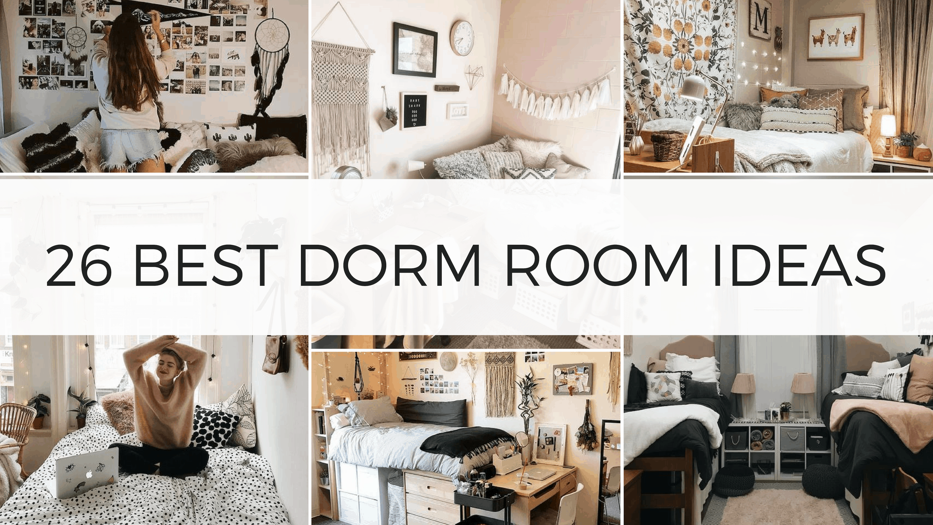 26 Best Dorm Room Ideas That Will Transform Your Room - By ...