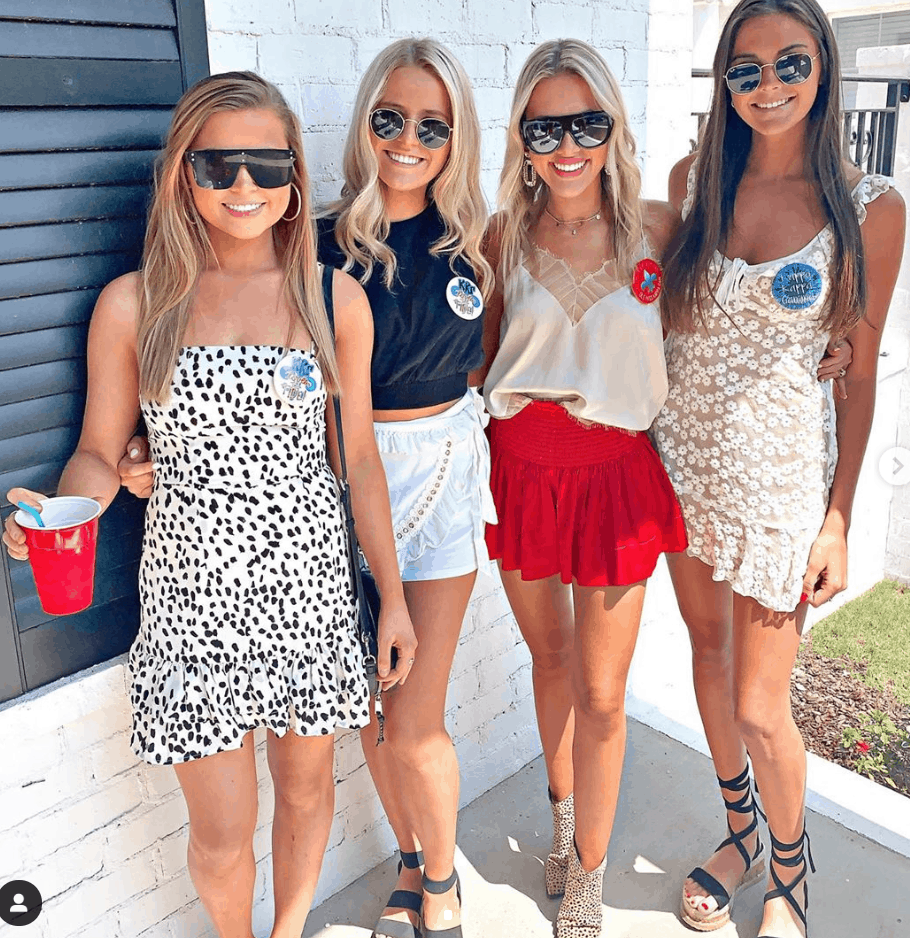 college game day outfit sorority